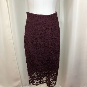 Bar III Purple Lace Skirt